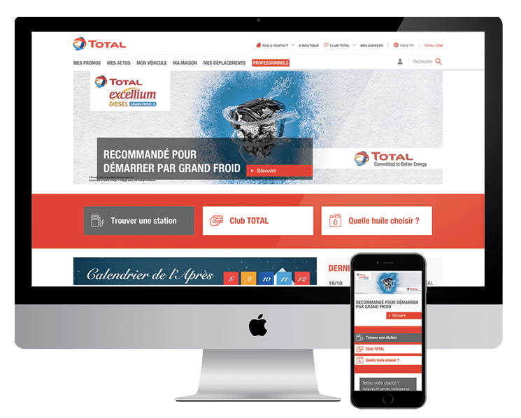 Site institutionnel de Total